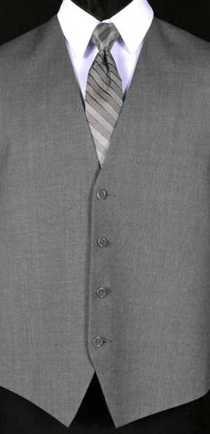 Grey Valencia Vest with Heather Grey Striped Windsor Tie
