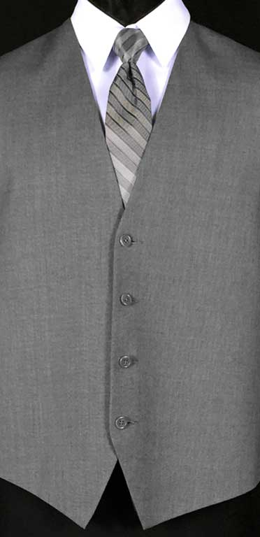 Grey Valencia Vest with Heather Grey Striped Windsor Tie