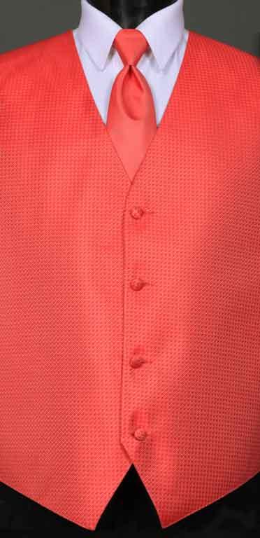 Guava Devon Vest with Guava Windsor tie