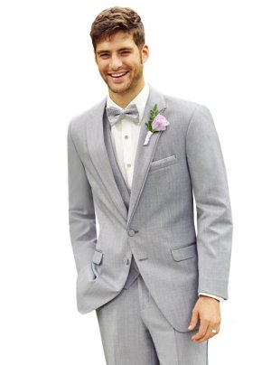 Heather Grey Bartlett Tuxedo by Allure Men
