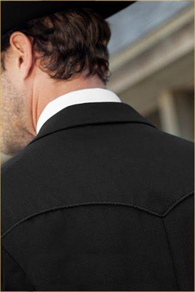 Lariat Back of jacket closeup
