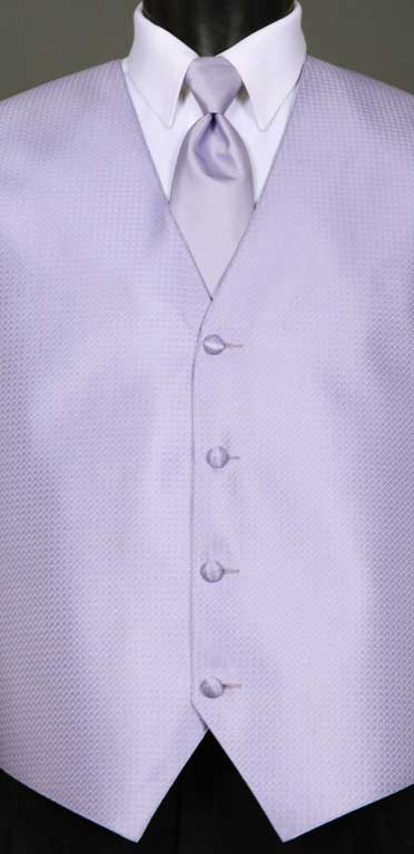 Lilac Devon Vest with matching Windsor tie