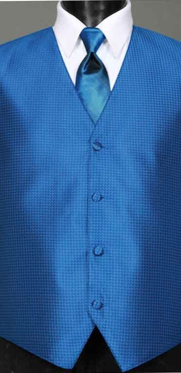 Marine Blue Devon Vest with Marine Blue Ombre Windsor tie