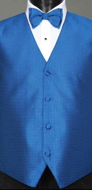 Marine Blue Devon Vest with matching bow tie
