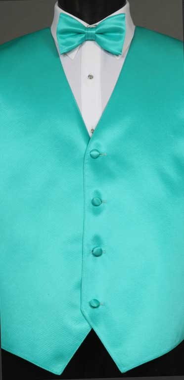 Mermaid simply solid vest with matching bow tie