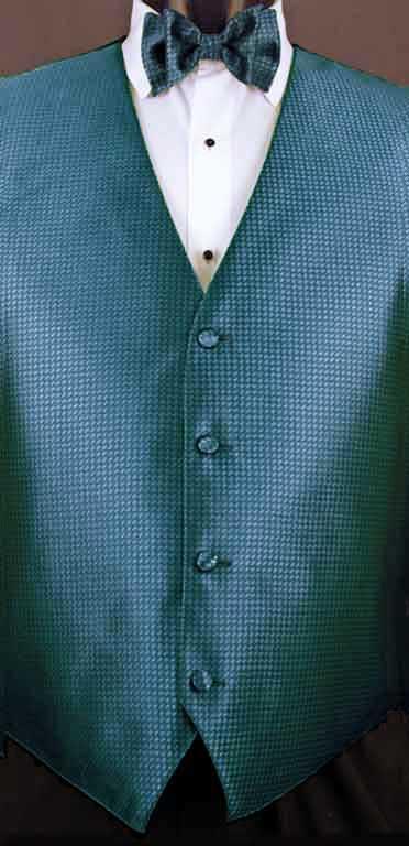 Ocean Blue Devon vest with matching bow tie
