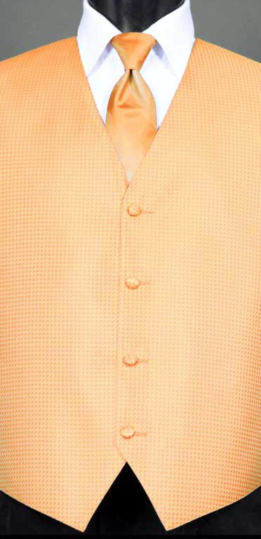 Peach Devon vest with Peach Ombre Windsor tie