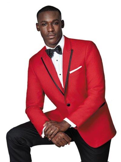 Red Carter Tuxedo by Ike Behar