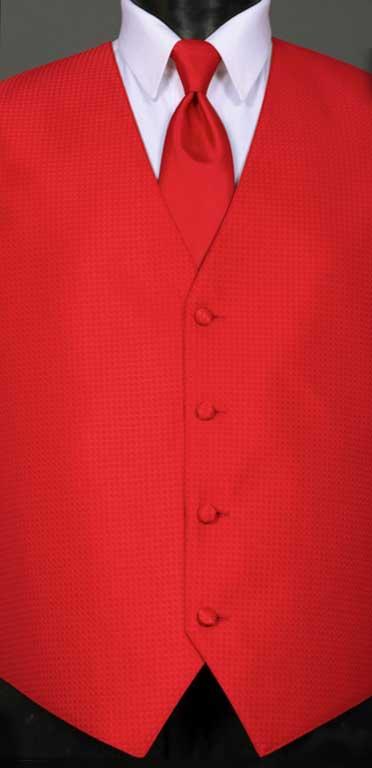 Ruby Devon vest with Ruby Windsor tie