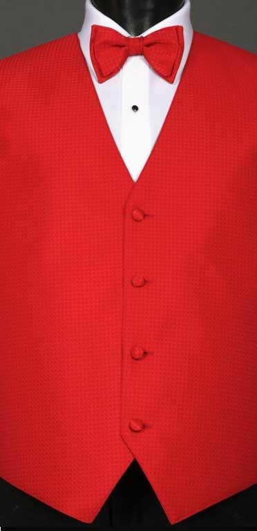 Ruby Devon vest with matching bow tie
