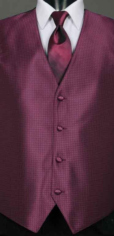 Sangria Devon vest with Sangria Ombre Windsor tie