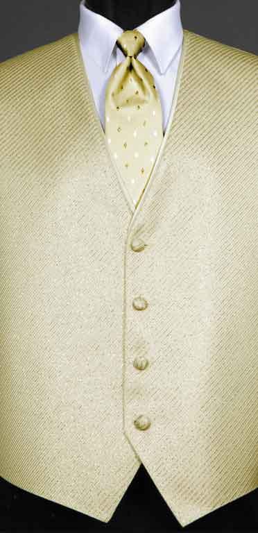True Gold metallic Synergy Vest with True Gold Metallic Diamond Windsor tie