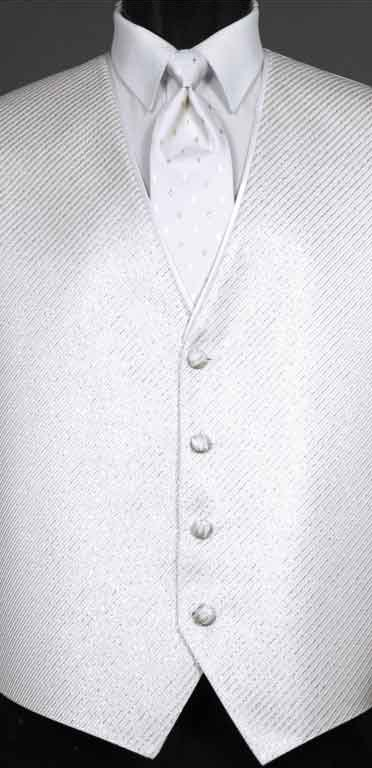 White Metallic Vest from the Synergy collection with Diamond Metallic Windsor tie