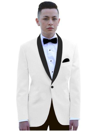 Ivory Dawson Ivory dinner jacket with black satin shawl lapel