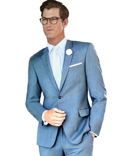 Steel Blue Christopher Suit by Ike Behar