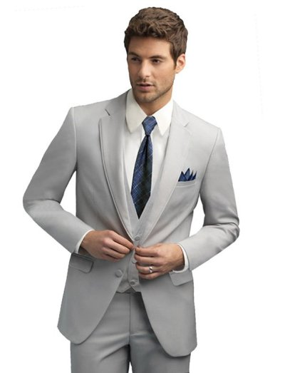Cement Bartlett Suit by Allure For Men