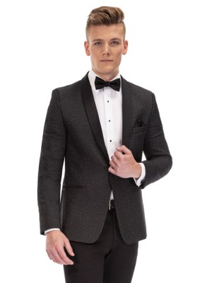 Austin Metallic Diamond Weave Dinner Jacket