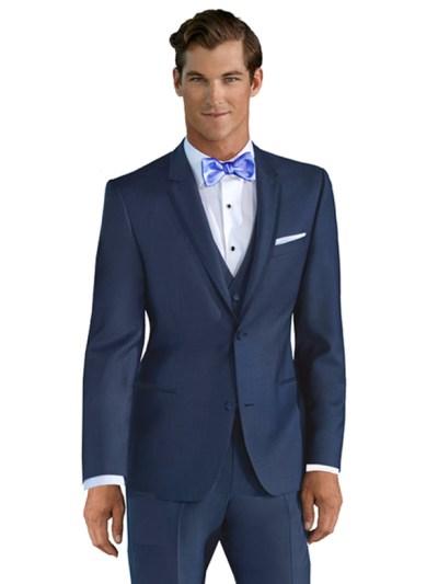 Azure Broadway Tuxedo shown with cornflower blue bow tie