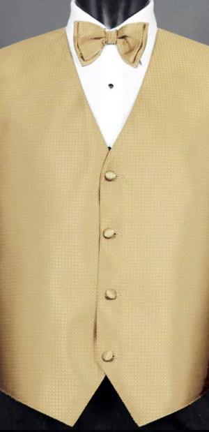 Golden Devon Vest with Golden Devon bow Tie