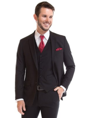 Black Catalina Suit by David Major