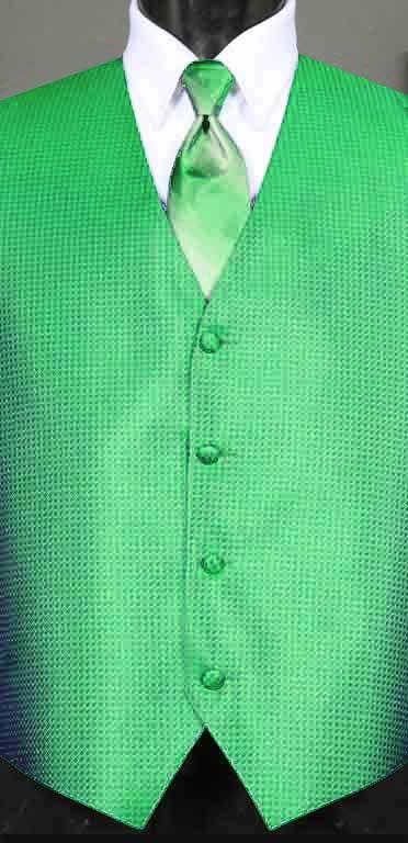 Kelly Green Devon vest with Kelly Green Ombre Windsor tie