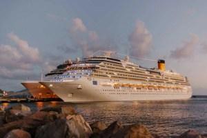 white cruise ship on sea