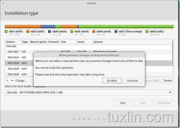 Screenshot Instal elementary OS 0.3 Freya Tuxlin Blog03