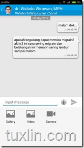 Review Aplikasi Chat Doctor Tuxlin Blog10