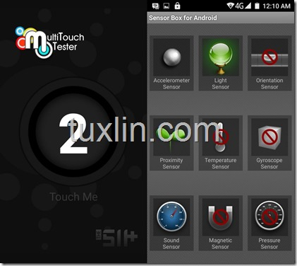 Sensorbox for Android Multitouch Tester Advan i45