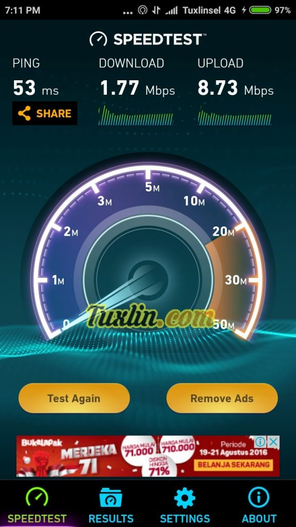 Speedtest Xiaomi Redmi 3S