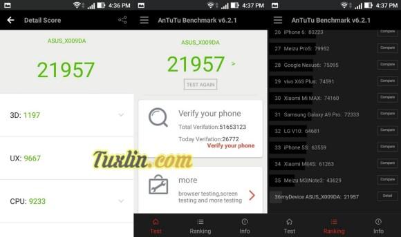 Benchmark AnTuTu v6 Asus Zenfone Go ZB450KL