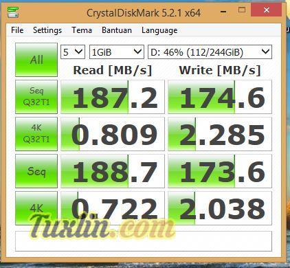 Benchmark CrystalDiskMark Hard Disk Pembanding
