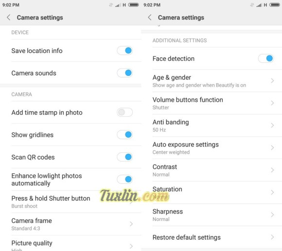 Fitur Kamera Xiaomi Redmi 4X