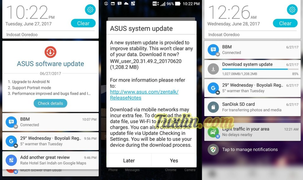 Upgrade Android 7.1.1 Nougat di Asus Zenfone Zoom S ZE553KL