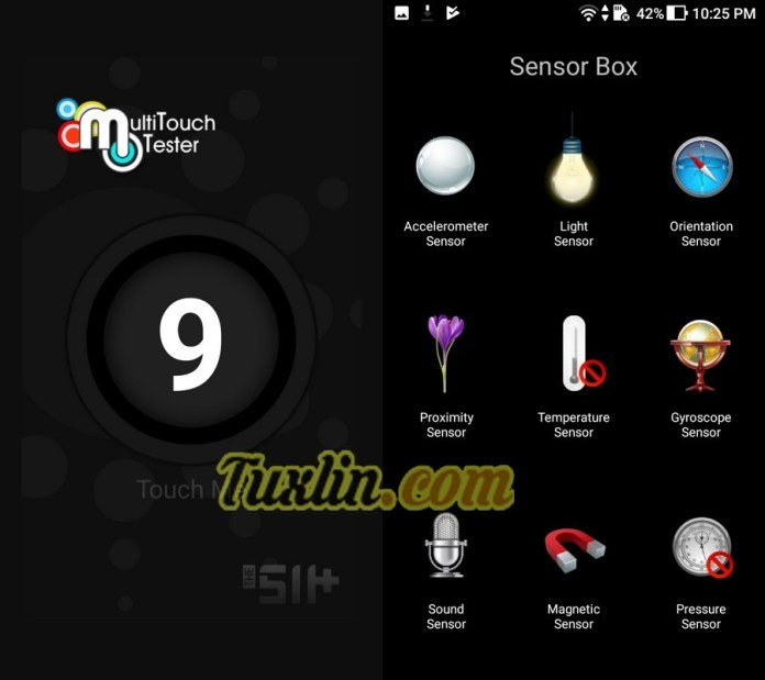 Multitouch Tester & Sensorbox for Android AsusZenfone 4 Max Pro ZC554KL