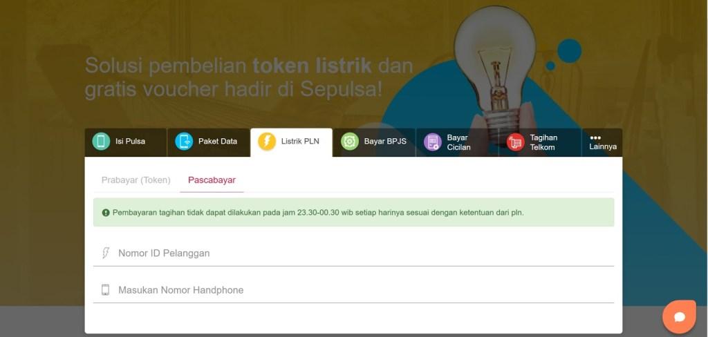 bayar listrik pln online sepulsa