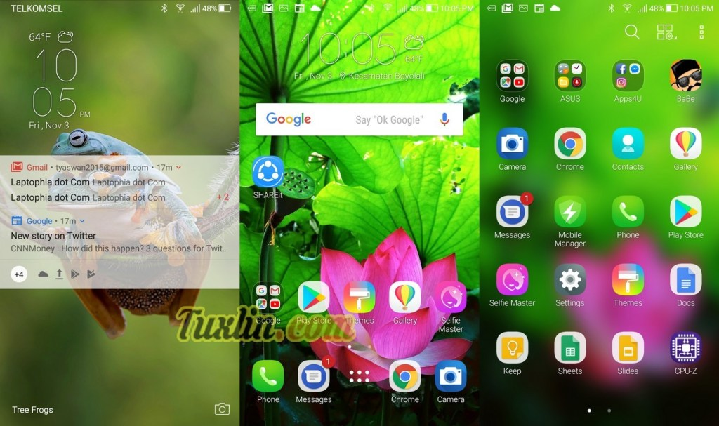 Antarmuka & FiturAsus Zenfone 4 Selfie Pro ZD552KL