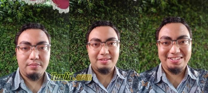 Hasil Foto Kamera Depan Oppo F5 Auto vs AI Beauty vs Portrait