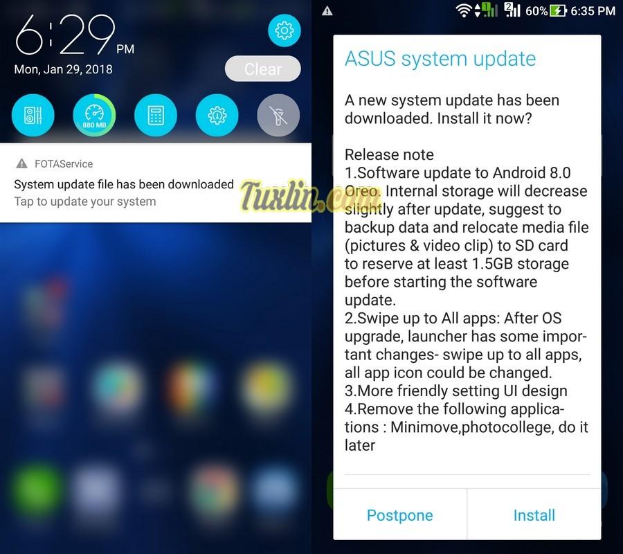Cara Upgrade Android 8 0 Oreo di Asus Zenfone 3 ZE520KL via