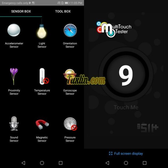 Sensorbox for Android & Multitouch Tester Honor 9 Lite