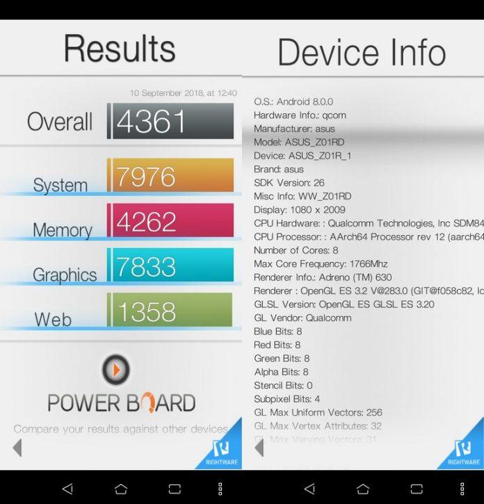 Benchmark Basemark OS II Asus Zenfone 5z