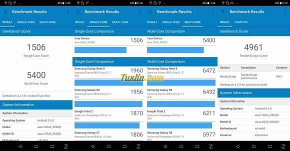 Benchmark Geekbench 4 Asus Zenfone 5 ZE620KL