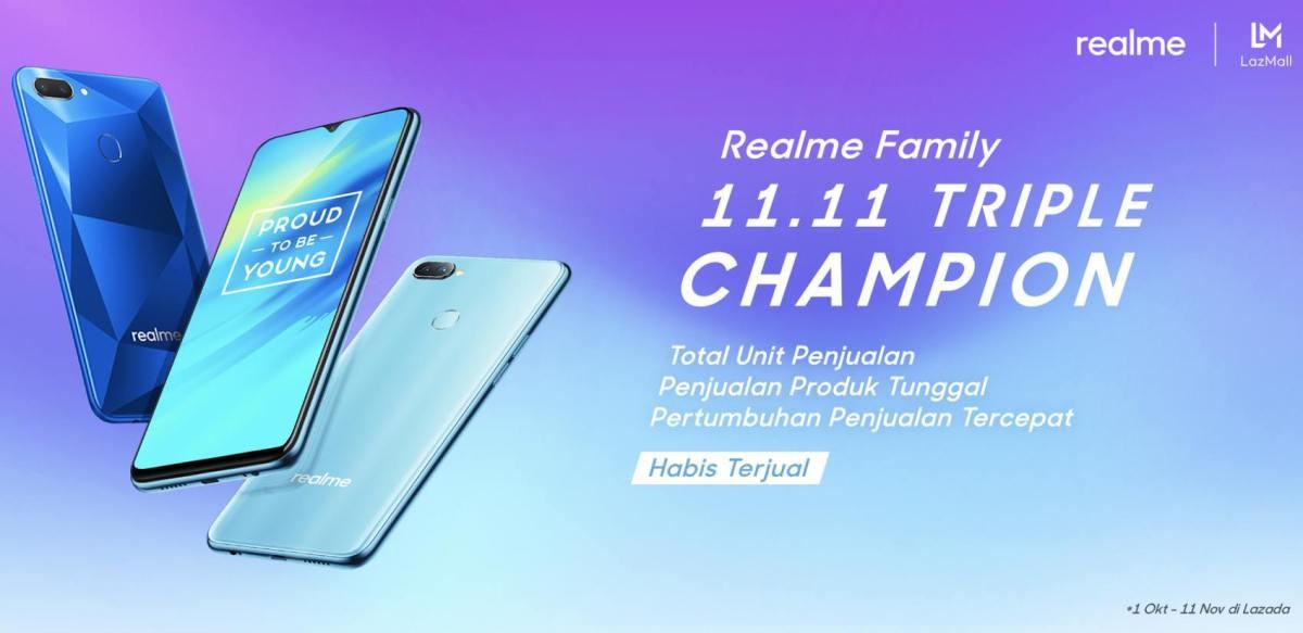 Realme Triple Champion Smartphone on 11.11