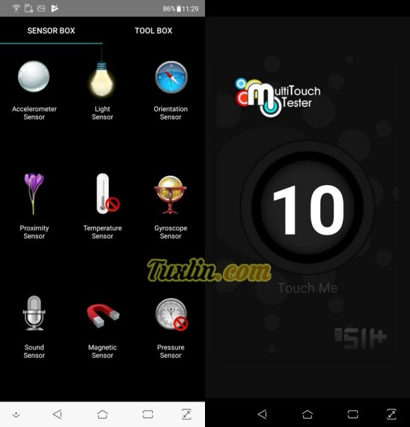 Sensorbox for Android & Multitouch TesterAsus Zenfone 5 ZE620KL