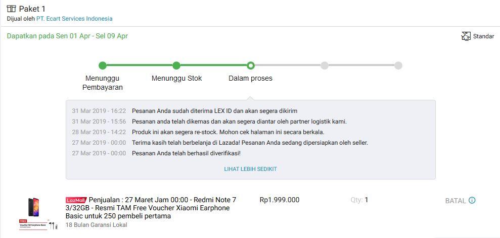 Suka Duka Ikutan Flash Sale Redmi Note 7 di Lazada 6