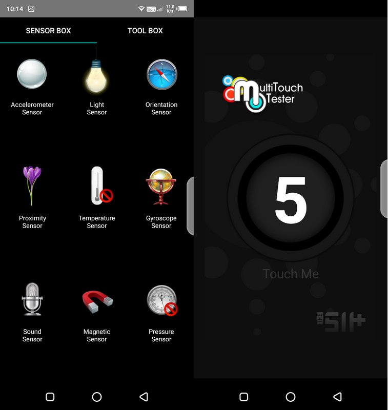 Sensorbox for Android & Multitouch Tester Infinix Smart 3 Plus
