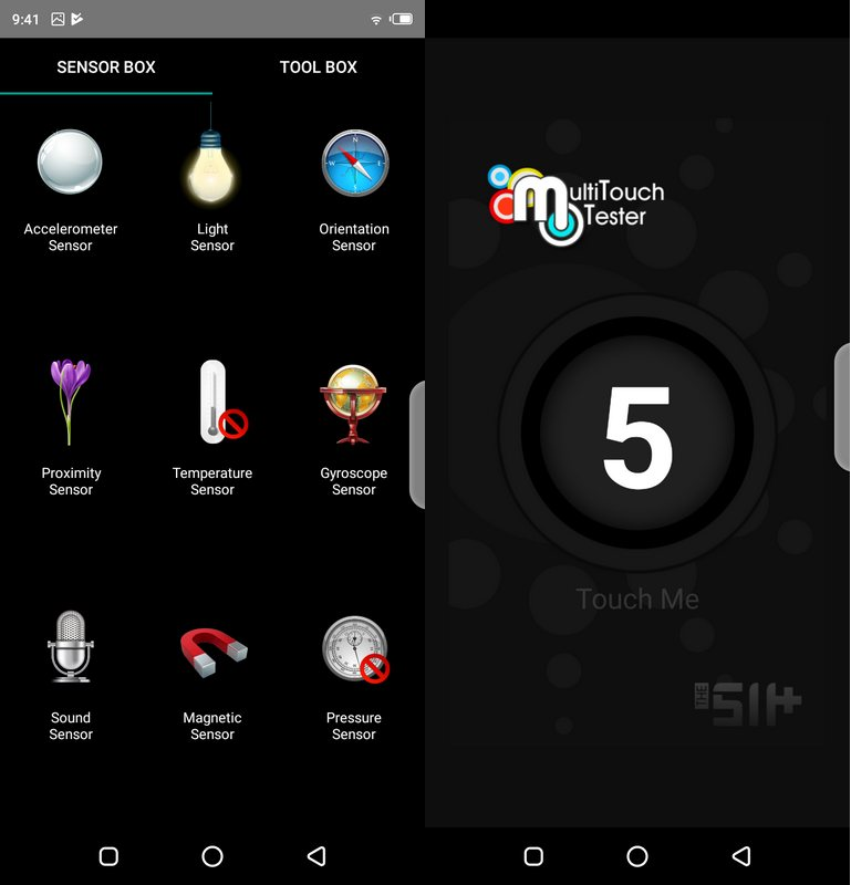 Sensorbox for Android & Multitouch Tester Infinix Hot 7 Pro