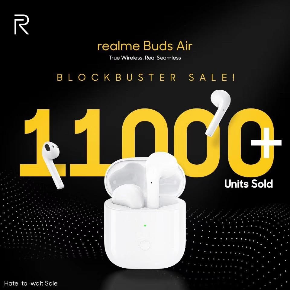 Satu Jam, 11 Ribu realme Buds Air Ludes Terjual! 2