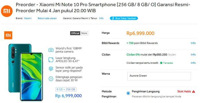 Ikutan Pre-order Xiaomi Mi Note 10 Pro, Smartphone Berkamera Flagship 3