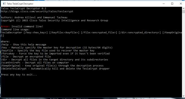 decriptare file teslacrypt